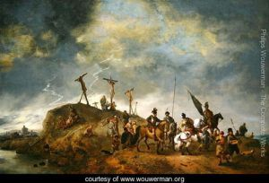 A-View-of-Mount-Calvary-with-the-Crucifixion,-1652