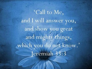 Jeremiah 33 vs 3