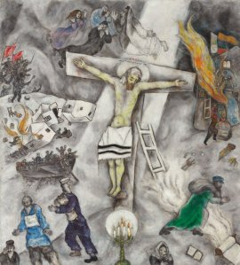 the White Crucifixion by Marc Chagall