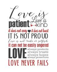 Love is patient 1 Corinthians 13.4