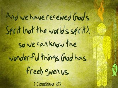 1 Cor 2.12