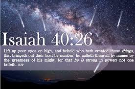 Isaia 40.26